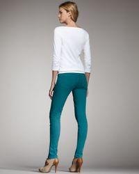 Joe's Jeans - Green Chelsea Skinny Pants, Emerald - Lyst