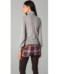 L.A.M.B. | Gray Turtleneck Sweater | Lyst