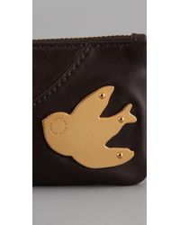 Marc By Marc Jacobs Brown Petal To The Metal Key Pouch
