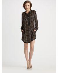 Sonia by Sonia Rykiel | Black Silk Heart Print Dress | Lyst