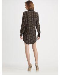 Sonia by Sonia Rykiel - Black Silk Heart Print Dress - Lyst