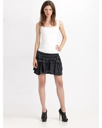 Theory | Black Wimin Ruffled Mini Skirt | Lyst
