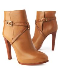 Tory Burch Brown Dorese Leather Boot