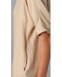 Tucker - Natural V Neck Pocket Dress - Lyst