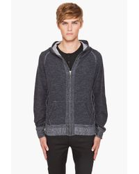 Yigal Azrouël | Gray Overdyed Knit Hoodie for Men | Lyst
