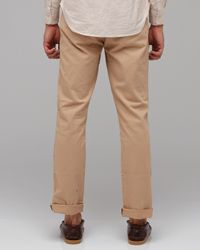 Life After Denim | Green Slim Fit Chino in Summer Weight in Khaki for Men | Lyst
