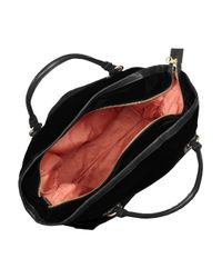 See By Chloé - Black Loki Leather-trimmed Velvet Weekend Bag - Lyst