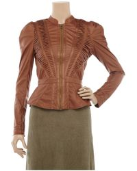 SuperTrash Brown Jenna Faux Leather Jacket