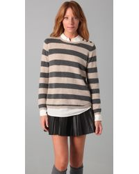 Chinti & Parker | Gray Wide Stripe Sweater | Lyst