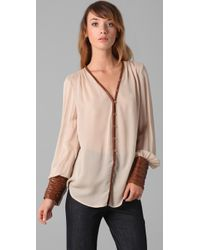 Elizabeth and James | Natural Chantal Blouse | Lyst