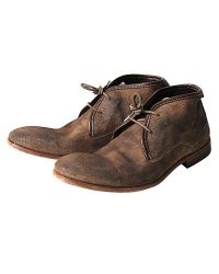 H by Hudson Brown Cruise Suede Chukka Boots Taupe for men