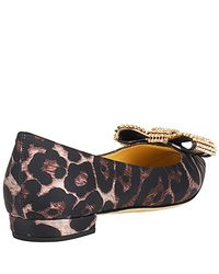 kate spade new york | Multicolor Noelle - Leopard Printed Satin Ballet Flat | Lyst