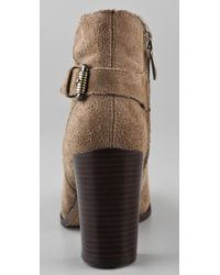 Sam Edelman - Brown Loni Suede High Heel Booties - Lyst