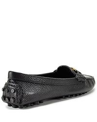 Tory Burch - Kendrick - Black Leather Moccasin Driver - Lyst