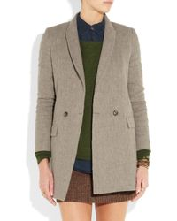 Boy by Band of Outsiders | Gray Linen-blend Flannel Jacket | Lyst