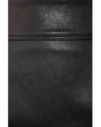 Burberry | Black Stretch-leather Pencil Skirt | Lyst