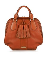 Burberry Prorsum Brown Hedwig Bowling Bag