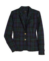 J.Crew - Blue Blackwatch Plaid Wool Blazer - Lyst