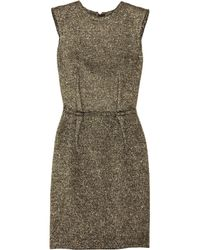 Lanvin | Metallic Bouclé Shift Dress | Lyst