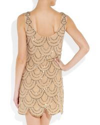 Rachel Gilbert - Pink Scala Beaded Silk Mini Dress - Lyst