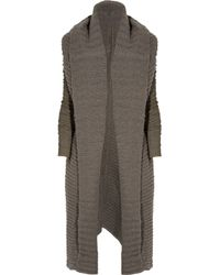 Rick Owens | Natural Ribbed Alpaca-blend Cardi-coat | Lyst