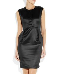 Theyskens' Theory Black Button Front Dress