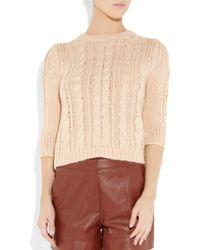Tibi | Pink Cable-knit Sweater | Lyst