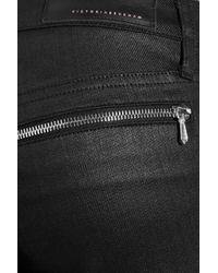 Victoria Beckham | Black Twist Ankle Zip Jeans | Lyst