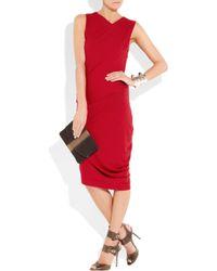 Zero + Maria Cornejo Red Draped Jersey Dress