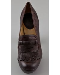 Frye - Brown Naiya Kiltie Platform Pumps - Lyst