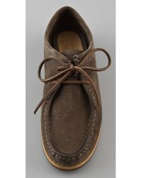 Frye - Brown Quincy Suede Wallabee Shoes - Lyst