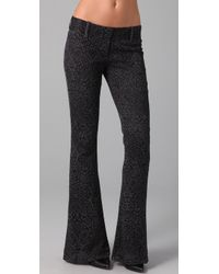 Georgie | Gray Lace Bell Bottom Pants | Lyst