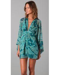 Issa | Green Short Kimono Dress | Lyst