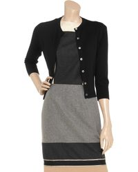 N.Peal Cashmere | Black Cropped Cashmere Cardigan | Lyst