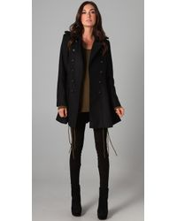 Torn By Ronny Kobo | Black Rachel Military Coat | Lyst