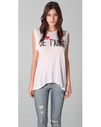 Wildfox | White Je Taime Dylan Tee | Lyst