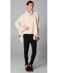 Yigal Azrouël - Natural Speckled Turtleneck Knit - Lyst