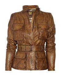 Belstaff   Brown Triumph Leather Jacket   Lyst