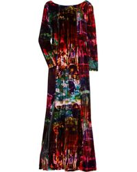 Erdem | Multicolor Daniella Printed Velvet Gown | Lyst