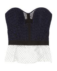 Nina Ricci | Blue Woven Wool-blend Bustier Top | Lyst
