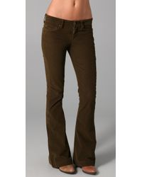 7 For All Mankind | Brown Jiselle Corduroy Flare | Lyst