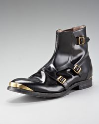 Alexander McQueen | Black Monk-strap Boot for Men | Lyst