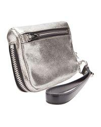 Alexander Wang Metallic Fumo Wristlet