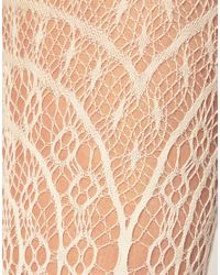 ASOS Collection | Natural Asos Crochet Lace Tights | Lyst