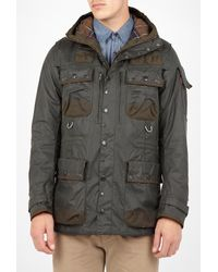 Barbour To Ki To | Sage Green Waxed Multi Pocket Military Jacket for Men | Lyst