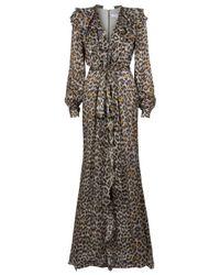 Carolina Herrera | Multicolor Leopard Print Gown | Lyst