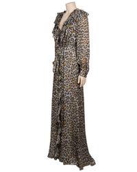 Carolina Herrera - Multicolor Leopard Print Gown - Lyst