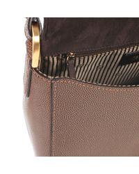 Fendi | Brown Three-coloured Calf Leather New Silvana Bag | Lyst