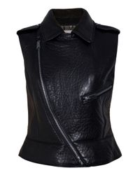 Hakaan | Black Leather Gilet | Lyst