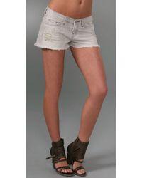 J Brand | Gray Cutoff Short Shorts | Lyst